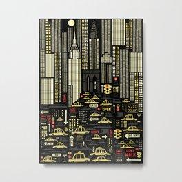 New York (Portrait) Metal Print