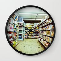 shopping Wall Clocks featuring Shopping by jmdphoto