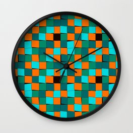 Color cubes pattern Wall Clock