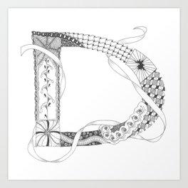 """Zenletter """"D"""" Art Print"""