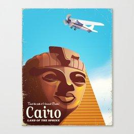 Cairo flight vintage travel poster Canvas Print