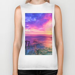Sunset in Paradise (Color) Biker Tank