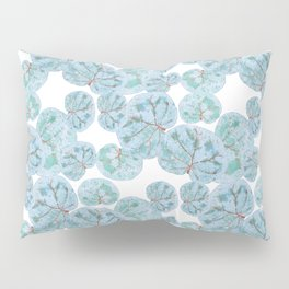 Sea Grape Tropical Leaves Pillow Sham