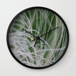 Abstract Image of Tropical Green Palm Leaves  Wall Clock