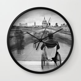 Invisible, Millennium Bridge, London Wall Clock