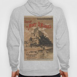 Vintage French Travel Poster: Mont Saint-Michel (1895) Hoody