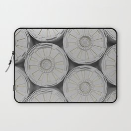 Bright futuristic technological shape with glowing lines Laptop Sleeve