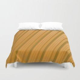 Stripes II - Golden Duvet Cover