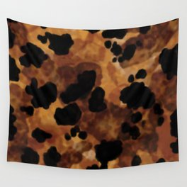 Tortoiseshell Watercolor Wall Tapestry