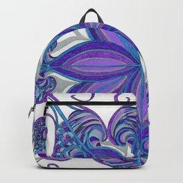 Bloom in Aqua & Purple Backpack