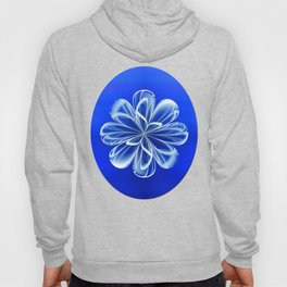 White Bloom on Blue Hoody
