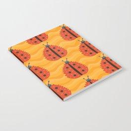 Orange Ladybug Autumn Leaf Notebook