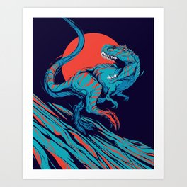 Tyrant Lizard King Art Print