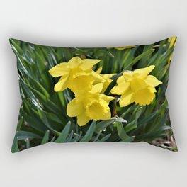 Beautiful Daffodil Blooms Rectangular Pillow
