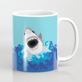Great White Shark Attack Coffee Mug