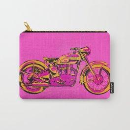 Pop Art Vintage Triumph Motorcycle Carry-All Pouch