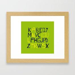 Illustra-tor Typography Framed Art Print