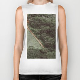Tropical Amazon Rainforest Textured Trees Aerial Landscape Photo Biker Tank