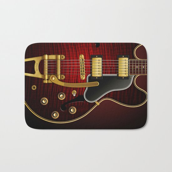 Electric Guitar ES 335 Flamed Maple Bath Mat