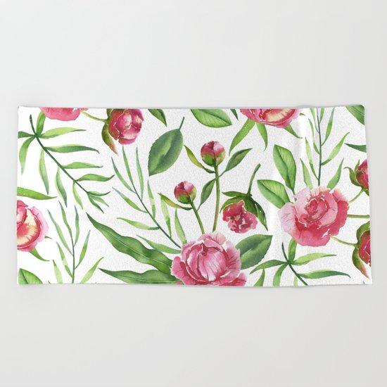 Wild Roses Beach Towel