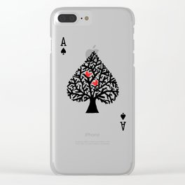 Ace of spade Clear iPhone Case