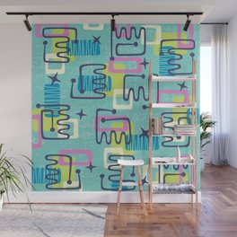 Mid Century Modern Abstract Pattern 735 Wall Mural