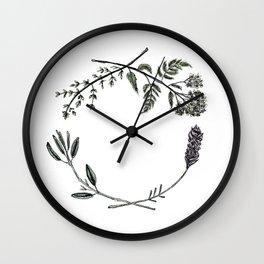 Yarrow, Sage, Lavender, Thyme Wall Clock