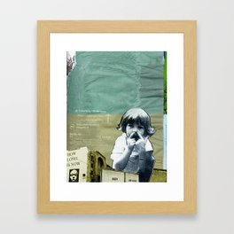 How Long is Now? Framed Art Print