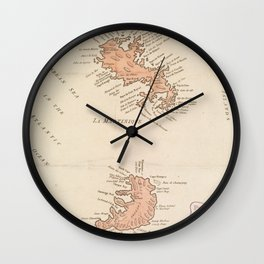 Vintage Map of St Lucia & Martinique (1781) Wall Clock
