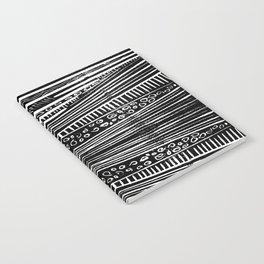 Linocut Tribal Pattern Notebook