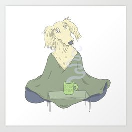 Doga Yoga Art Print