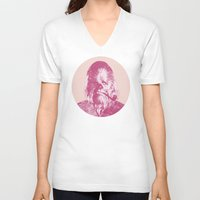 chewbacca V-neck T-shirts featuring Chewbacca by Les petites illustrations