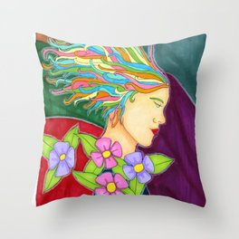 rays of sun rays of colors Throw Pillow