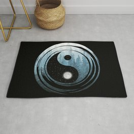 Yin Yang Misty Forest Night Rug
