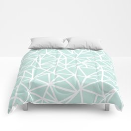 Ab Outline Thick Mint Comforters