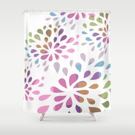 Colourful drops Shower Curtain