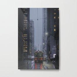 City lights of downtown Toronto - Street Photography Metal Print
