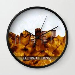 Colorado Springs Colorado Skyline Wall Clock