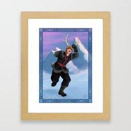 Reindeer King Framed Art Print