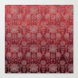 Victorian Potpourri - Faded Splendor Damask - RUBY Canvas Print
