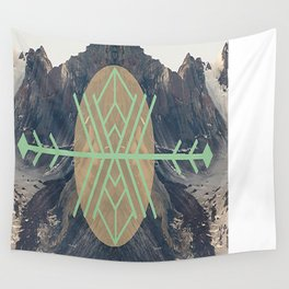 Mountains With Green Wall Tapestry