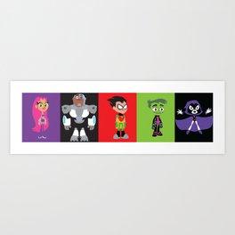 Teen Titans Go Art Print