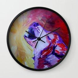 Wolf's Call Wall Clock