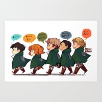 snk Art Prints featuring SNK-Special ops. squad by Mimiblargh