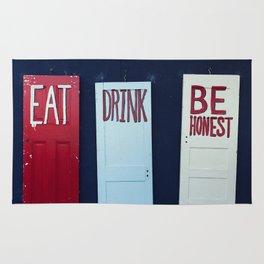 Eat Drink Be Honest Rug
