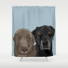 Two Labradors Shower Curtain