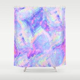 Pink Gemstone Shower Curtain
