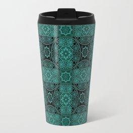 Black green lace Travel Mug