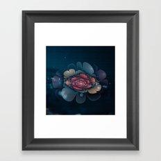 A Beautiful Fractal Flower Framed Art Print