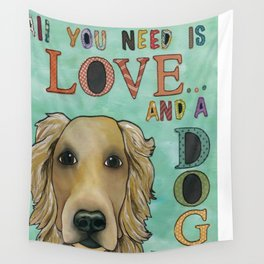 Love Dog Wall Tapestry